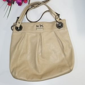 Coach crossover purse cream color medium size